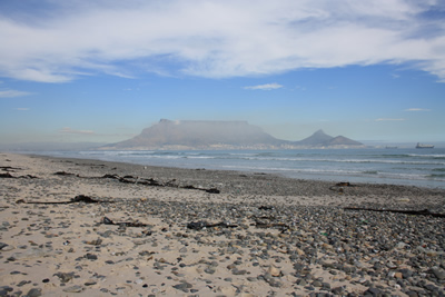 Cape Town and Table Mountain from Blouberg