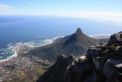 Cape Town and Lions Head from Table Mountain