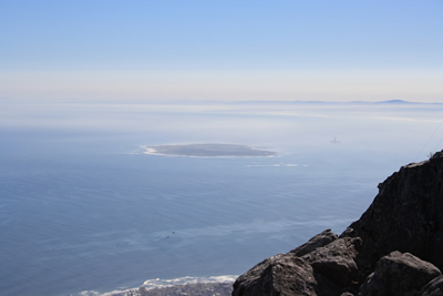 Robben island from Table Mountain