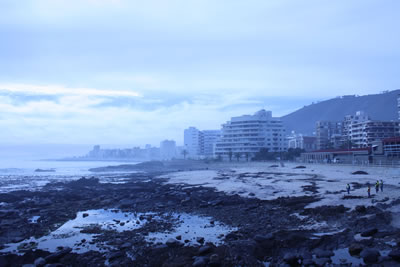 Sea Point beach and buildings