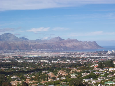Somerset West View over Helderberg