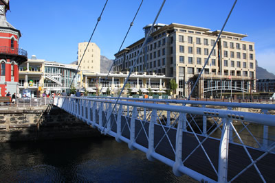 Cape Town Victoria and Alfred Waterfront and bridge