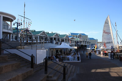 Cape Town Victoria and Alfred Waterfront and Shopping center